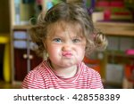 funny portrait of adorable baby ... | Shutterstock . vector #428558389