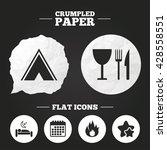 crumpled paper speech bubble.... | Shutterstock .eps vector #428558551