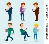 people  man and woman  using... | Shutterstock .eps vector #428558875