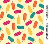 popsicles ice cream seamless... | Shutterstock .eps vector #428563501