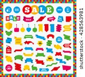 banners  sale stickers and sale ... | Shutterstock .eps vector #428563981