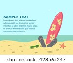 beach scene with sea shore and... | Shutterstock .eps vector #428565247