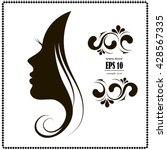 woman's silhouette  hair ...   Shutterstock .eps vector #428567335