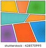 comics book background in... | Shutterstock .eps vector #428570995