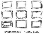 hand draw sketch of frames   | Shutterstock .eps vector #428571607