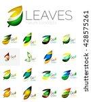 leaf logo set. vector...   Shutterstock .eps vector #428575261