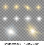 glow light effect. star burst... | Shutterstock .eps vector #428578204