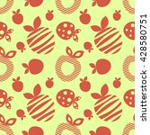 seamless raster pattern with... | Shutterstock . vector #428580751