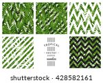 tropical palm leaves. tropic...   Shutterstock .eps vector #428582161