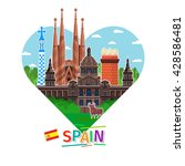 concept of travel to spain or... | Shutterstock .eps vector #428586481