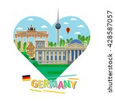 concept of travel to germany or ... | Shutterstock .eps vector #428587057
