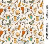 latino musical pattern. pattern ... | Shutterstock .eps vector #428588101