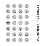 gray emoticon vector. emoji...