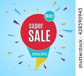 sale banner. | Shutterstock .eps vector #428590945