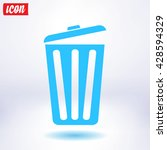 trash can icon  vector eps10... | Shutterstock .eps vector #428594329