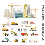 process of construction of... | Shutterstock .eps vector #428595421