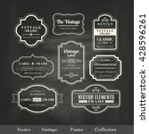 vector vintage frame set on... | Shutterstock .eps vector #428596261