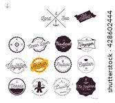 set of vintage nautical labels... | Shutterstock .eps vector #428602444