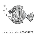 hand drawn fish with ornament ... | Shutterstock . vector #428603221
