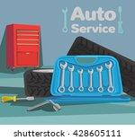 car service. vector flat...   Shutterstock .eps vector #428605111