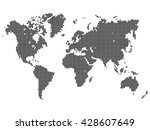 dotted vector world map | Shutterstock .eps vector #428607649