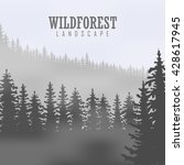 wild coniferous forest... | Shutterstock .eps vector #428617945