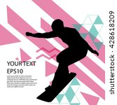 snowboard man silhouette modern ... | Shutterstock .eps vector #428618209