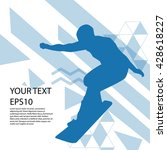 snowboard man silhouette modern ... | Shutterstock .eps vector #428618227