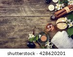 essential oils with jasmine ... | Shutterstock . vector #428620201