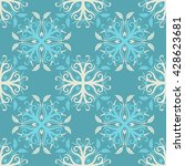 vector seamless floral...   Shutterstock .eps vector #428623681