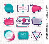 vector set of creative quote... | Shutterstock .eps vector #428624494