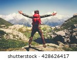 traveler man with backpack... | Shutterstock . vector #428626417