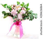 beautiful bouquet of hydrangeas ... | Shutterstock . vector #428626864