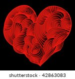 abstract red heart | Shutterstock .eps vector #42863083