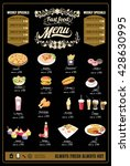 restaurant fast foods menu on... | Shutterstock .eps vector #428630995