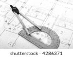 architecture blueprint document.... | Shutterstock . vector #4286371
