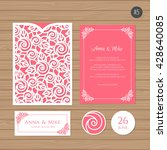 wedding invitation or greeting... | Shutterstock .eps vector #428640085