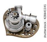 concept. iron heart... | Shutterstock . vector #428641141