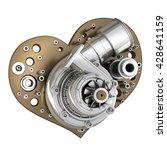 concept. iron heart... | Shutterstock . vector #428641159