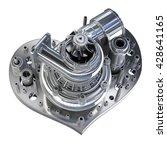 concept. iron heart... | Shutterstock . vector #428641165
