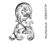 vintage baroque ornament. retro ... | Shutterstock .eps vector #428645779