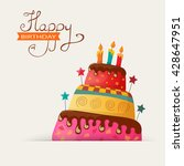 birthday card with cake. eps10 | Shutterstock .eps vector #428647951