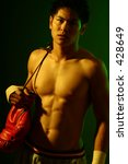 photo series of young boxer. | Shutterstock . vector #428649