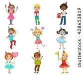 kids celebration set of bright... | Shutterstock .eps vector #428653819