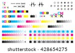 cmyk press marks color bar | Shutterstock .eps vector #428654275
