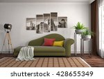 interior with sofa. 3d... | Shutterstock . vector #428655349