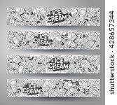 cartoon line art vector hand...   Shutterstock .eps vector #428657344