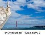 monument to the discoveries and ... | Shutterstock . vector #428658919