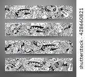 cartoon vector hand drawn line... | Shutterstock .eps vector #428660821