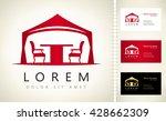 wedding or entertainment tent... | Shutterstock .eps vector #428662309
